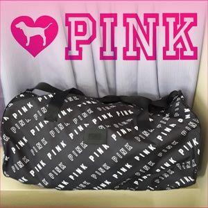 Pink Duffle Black Bag